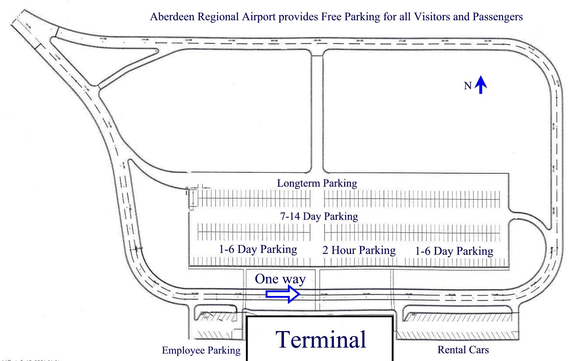 Terminals Parking Information Aberdeen SD Official Website - Us regional airport map