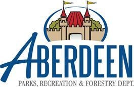 Aberdeen Parks, Recreation and Forestry Department Logo with image of Storybook Land Castle