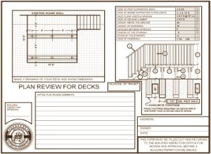 Sample Deck Plans Amazing House