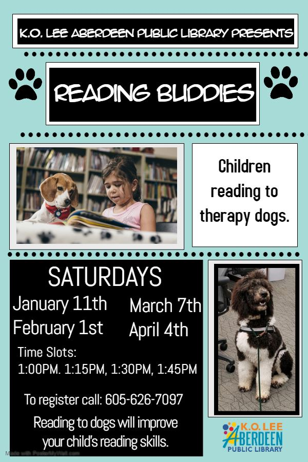 Reading Buddies Library Program Poster - Made with PosterMyWall