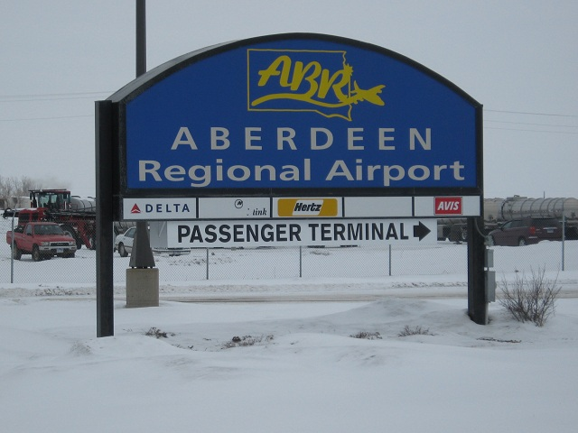 Entrance Sign at Aberdeen Regional Airport