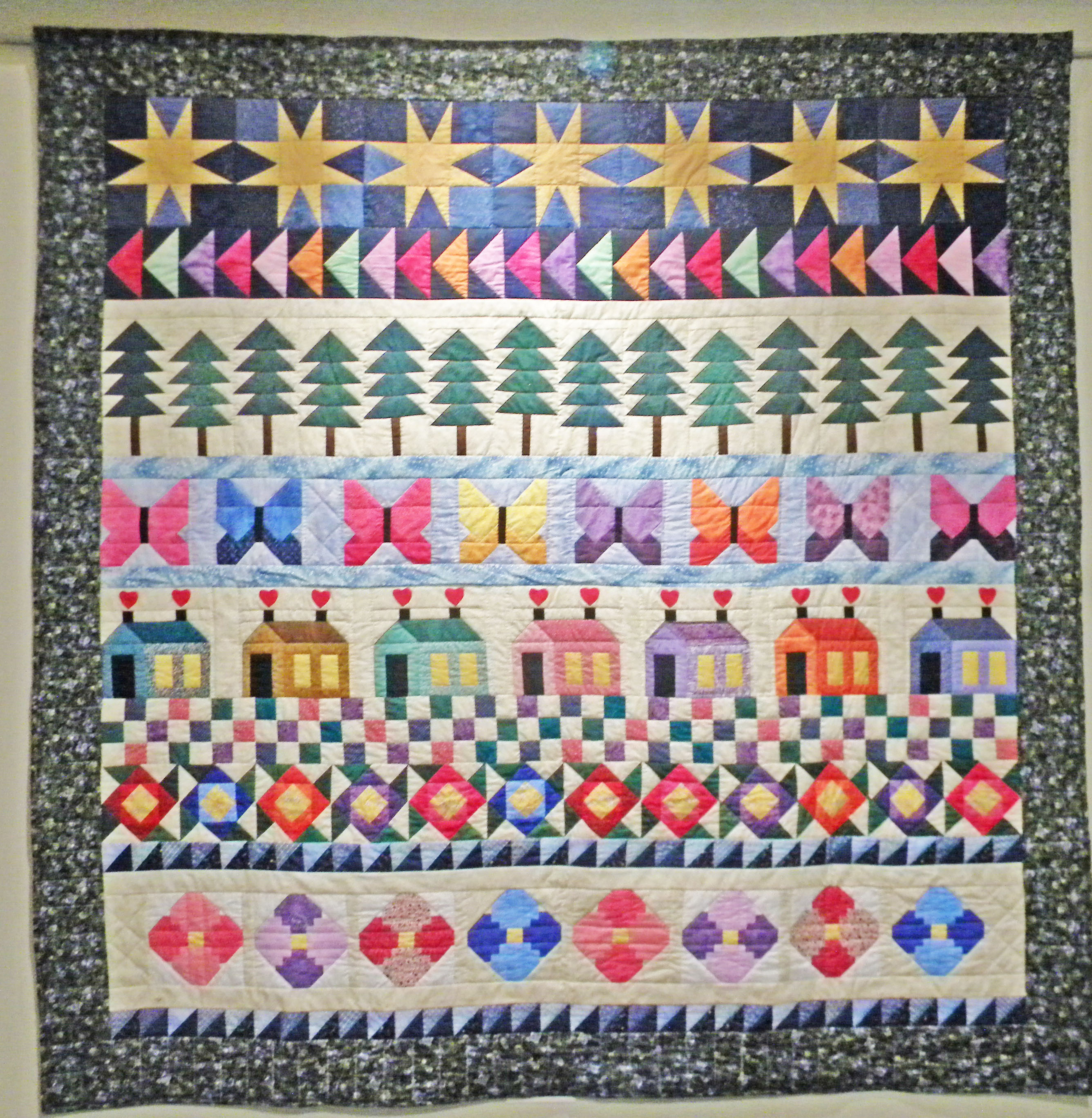 Challenge quilt panel by SHirley Solheil