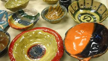 Empty Bowls glazed and ready for use